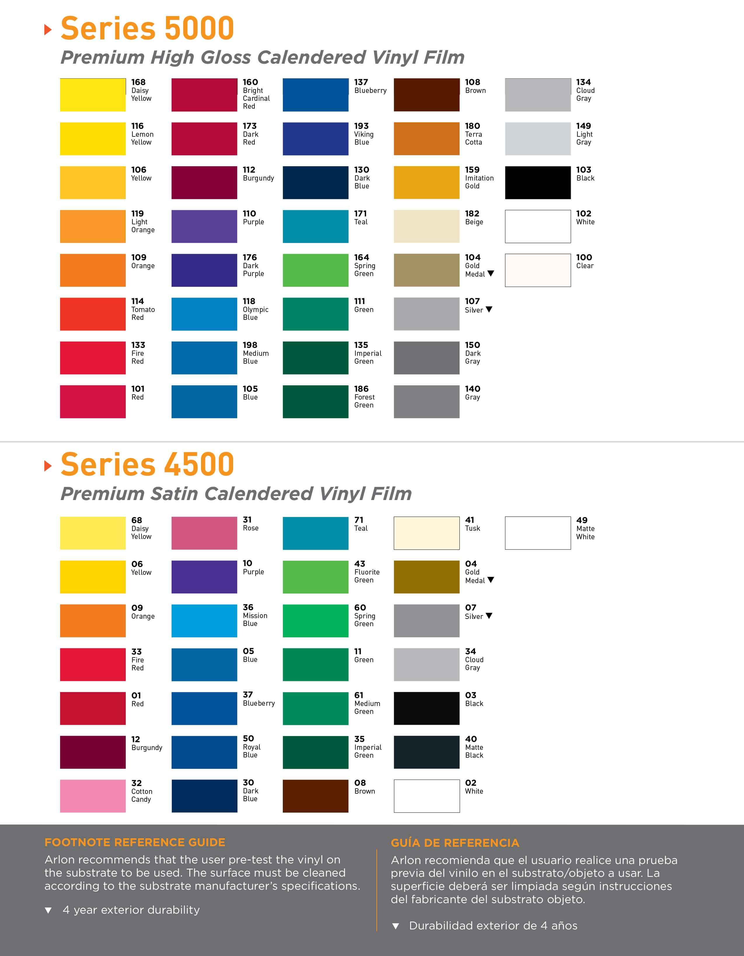 Fabrica del vinil paleta de colores fabrica del vinil for Muestrario de pinturas