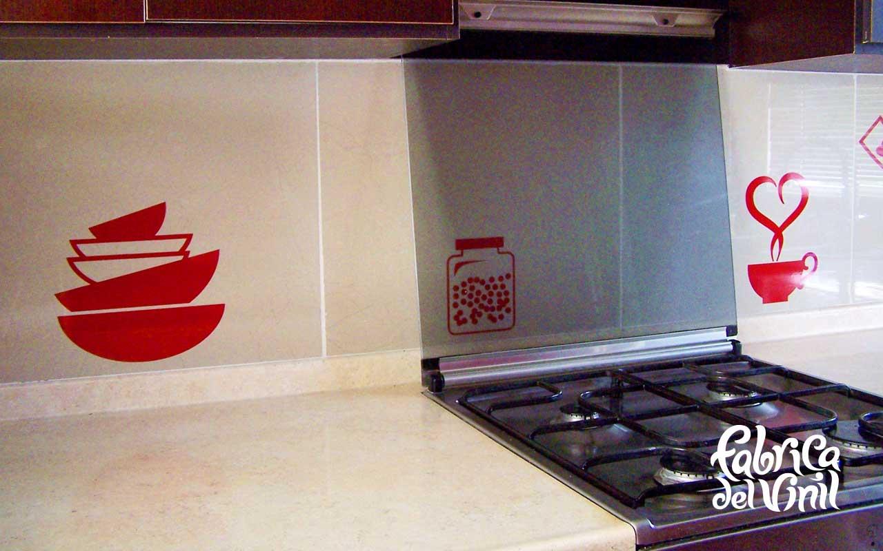 Cenefa para cocina y stickers para refrigerador utensilios for Cenefas autoadhesivas cocina