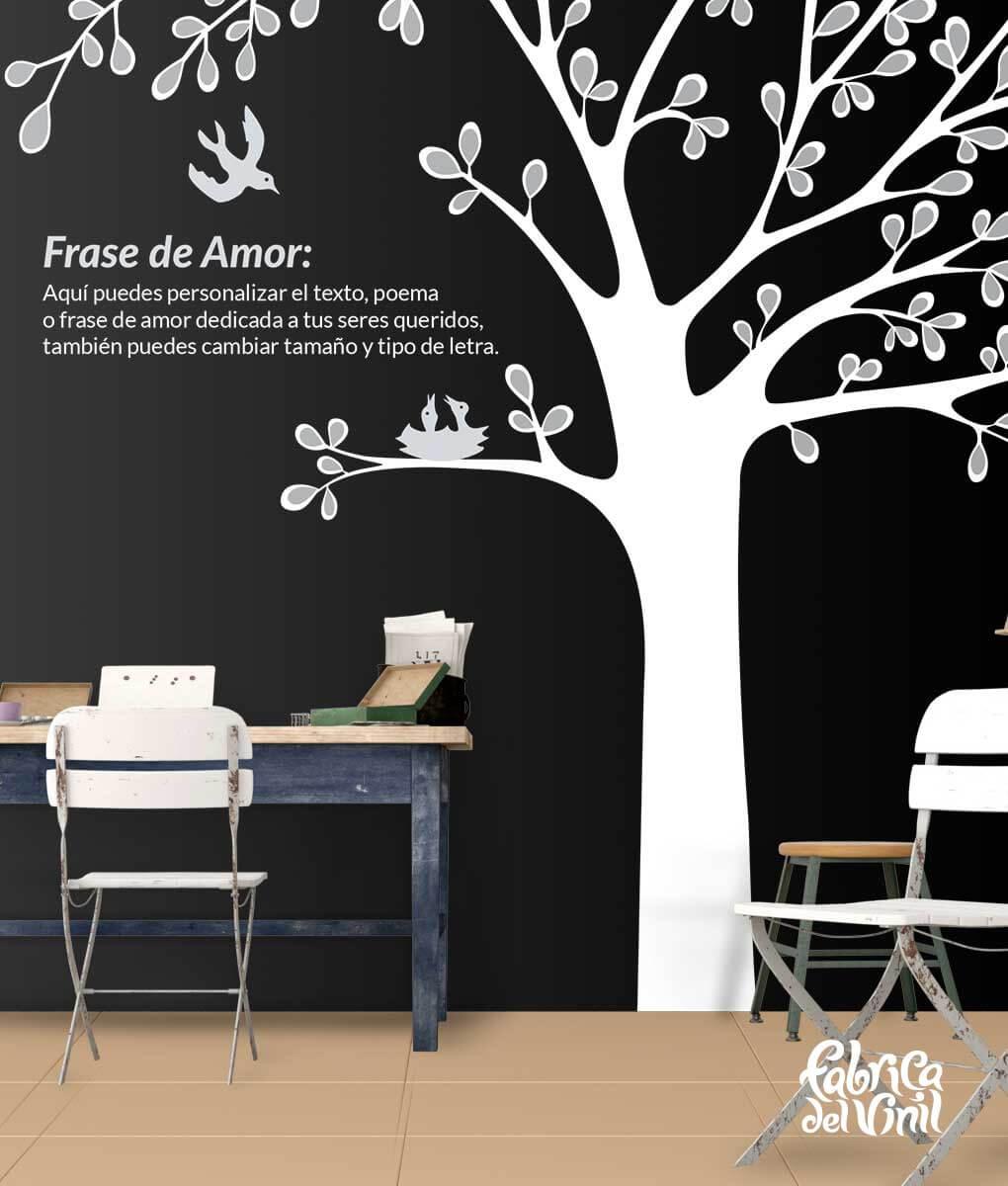 Rbol mural para habitaci n infantil vinilo decorativo for Vinilo decorativo habitacion