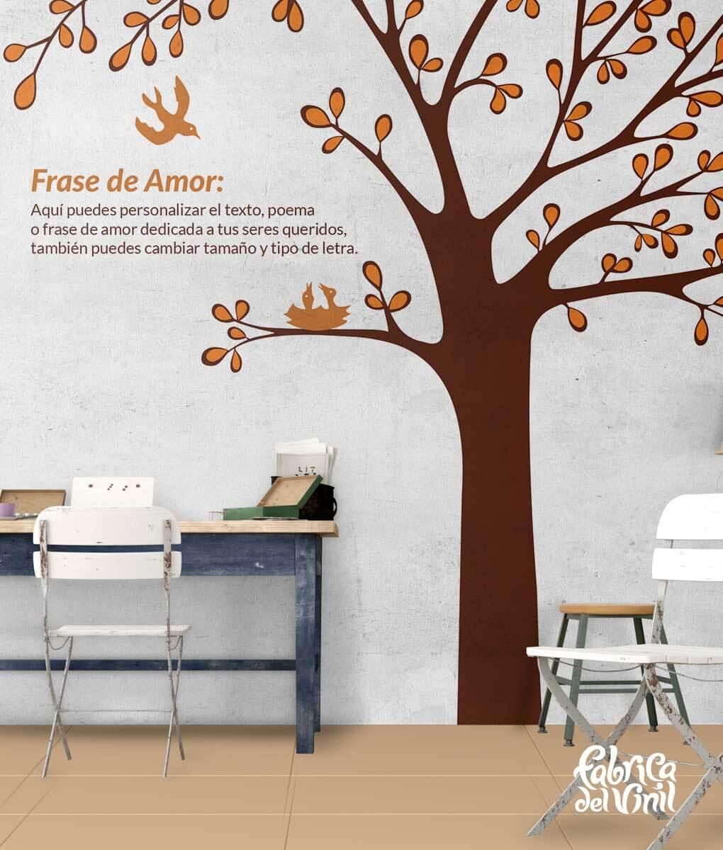 Arbol Frase Winnie Pooh Otono Brown Orange Terracotta Fabrica Del
