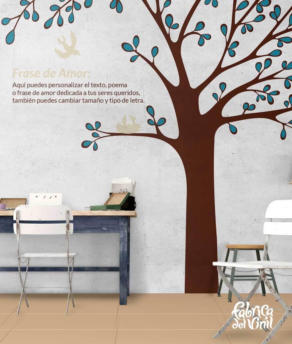 Rbol mural para habitaci n infantil vinilo decorativo for Tipos de arboles decorativos