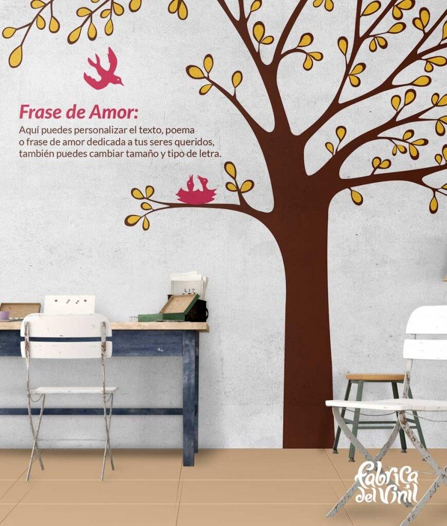 """Nursery tree """" sometimes the smallest things take up the most room in your heart"""" Wall Decal, """"Las cosas más pequeñas ocupan el mayor espacio en nuestro corazón"""" Vinilo Decorativo."""