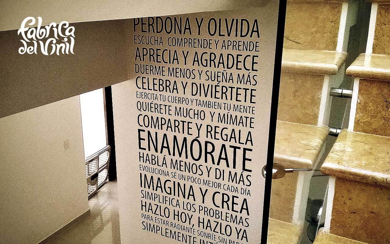 Perdona y olvida frases y oraciones plasmadas en - Calcomanias para paredes ...