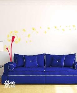 diente-de-leon-para-sala-mural-en-vinil-decorativo-summer-rojo-amarillo