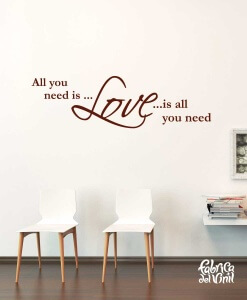 vinilo-decorativo-frase-all-you-need-is-love-color-brown-cafe