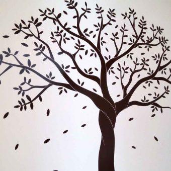 Este modelo árbol de vinilo, exclusivo de fabrica del vinil, está ya disponible para venta. Realiza tu pedido con las modificaciones de color tamaño y forma que desees. Personalizado 100%