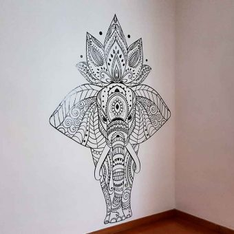 mandala de elefante para decoración de salas en méxico