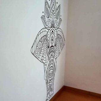 vinilo elefante de color para decoración de cuartos en méxico
