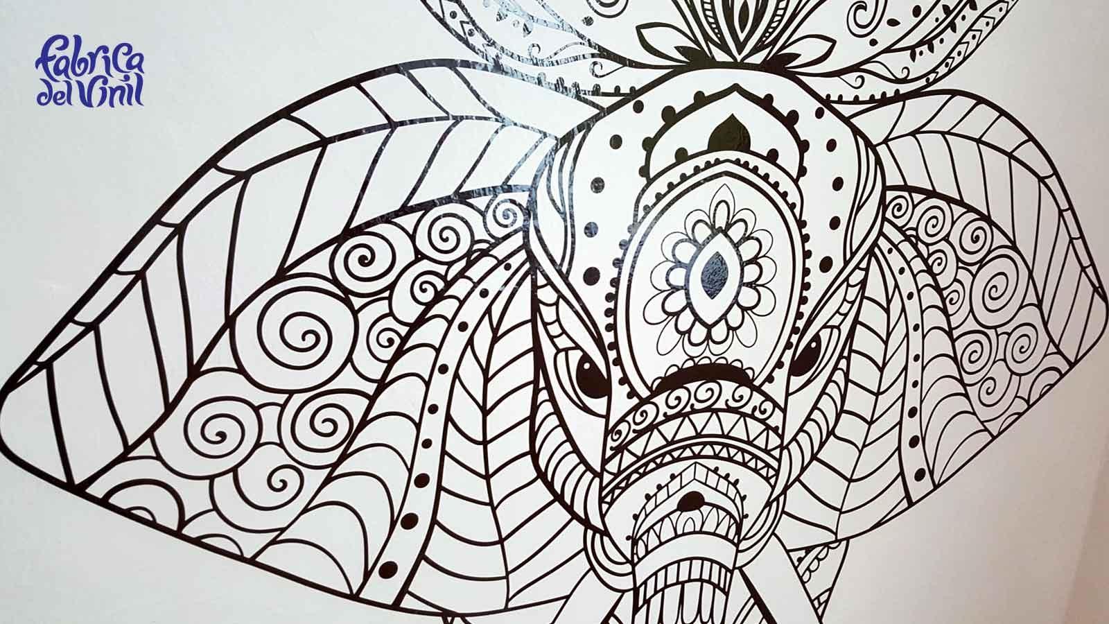 diseño de interiores con viniles de elefantes en méxico