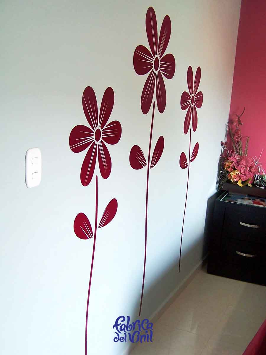 pegatinas de flores para pared