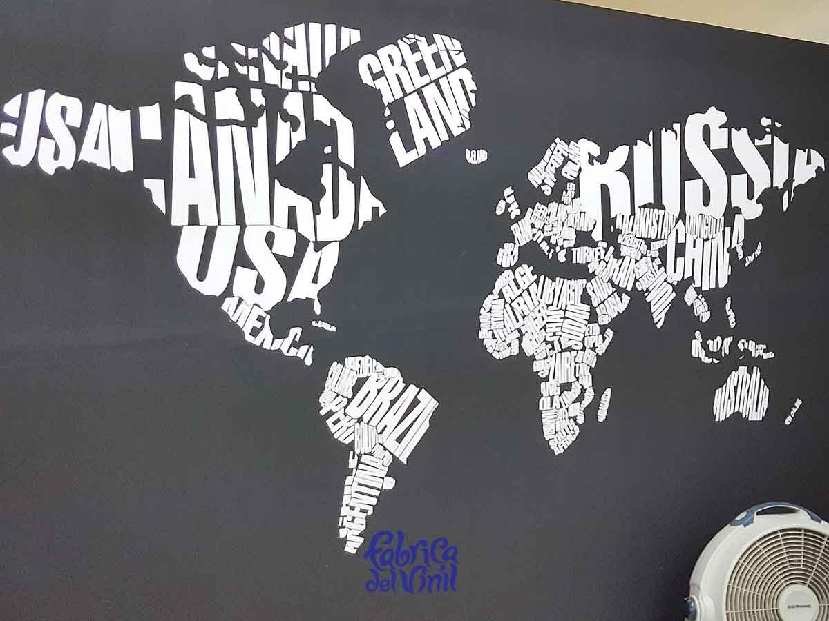 Mapa decoración pared
