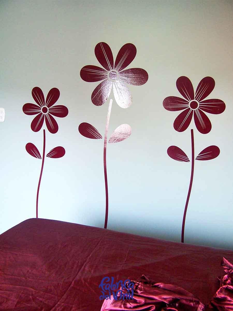 vinilos de flores para pared