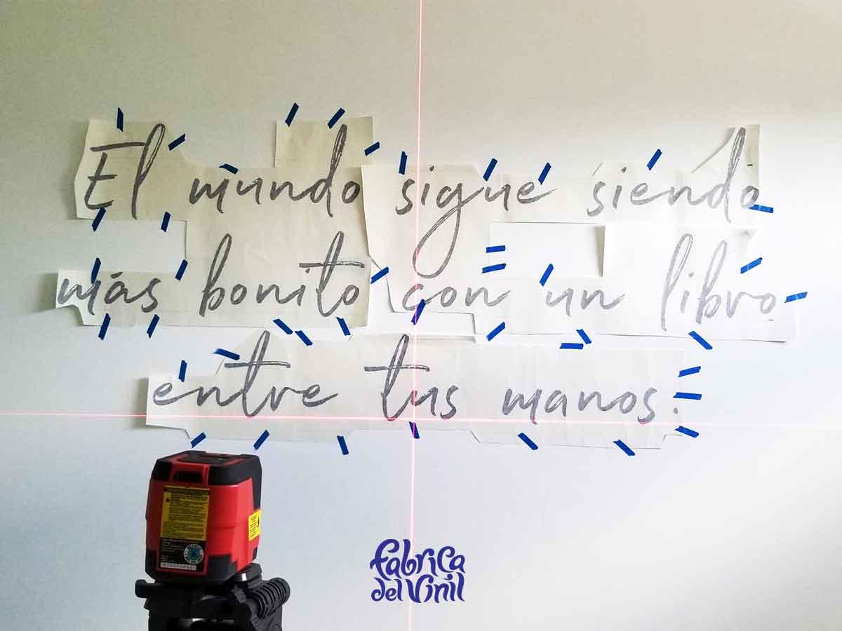frases decorativas pared