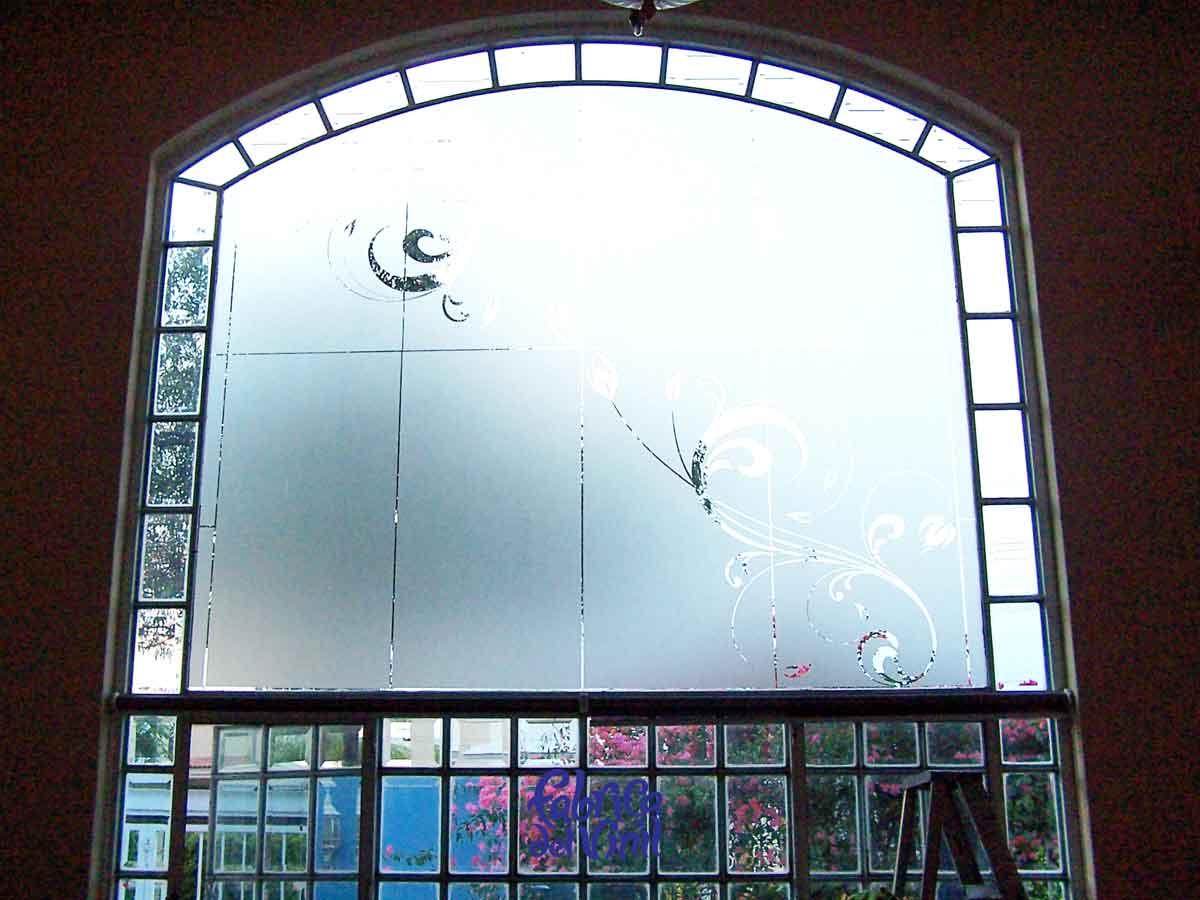 Película decorativa para ventanas